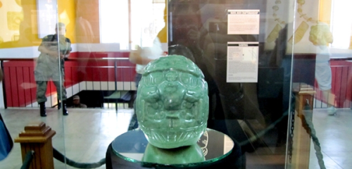 Who found the Jade Head of Kinich Ahau, at Altun Ha?
